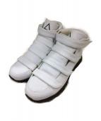 KIDS LOVE GAITE(キッズラブゲイト)の古着「3枚ベルクロスニーカー」|ホワイト