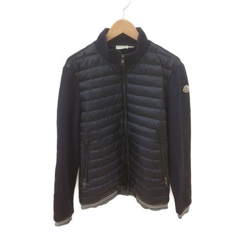 MONCLER(モンクレール)MONCLER (モンクレール) フロント切替ダウンニット ネイビー×ブラック サイズ:Lの古着・服飾アイテム