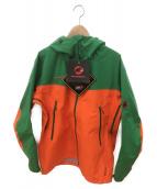 MAMMUT(マムート)の古着「マウンテンパーカー」 グリーン×オレンジ