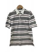 BURBERRY BLACK LABEL(バーバリーブラックレーベル)の古着「ポロシャツ」|ホワイト×ブラック
