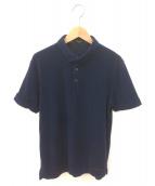 BLACK LABEL CRESTBRIDGE(ブラックレーベルクレストブリッジ)の古着「パイル地半袖ポロシャツ」|ネイビー