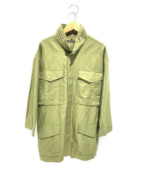 JOHNBULL(ジョンブル)Johnbull (ジョンブル) オーバーサイズミリタリージャケット グリーン サイズ:Fの古着・服飾アイテム