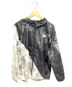 NEW BALANCE(ニューバランス)の古着「グラフィックウーブンジャケット」|ブラック×グレー