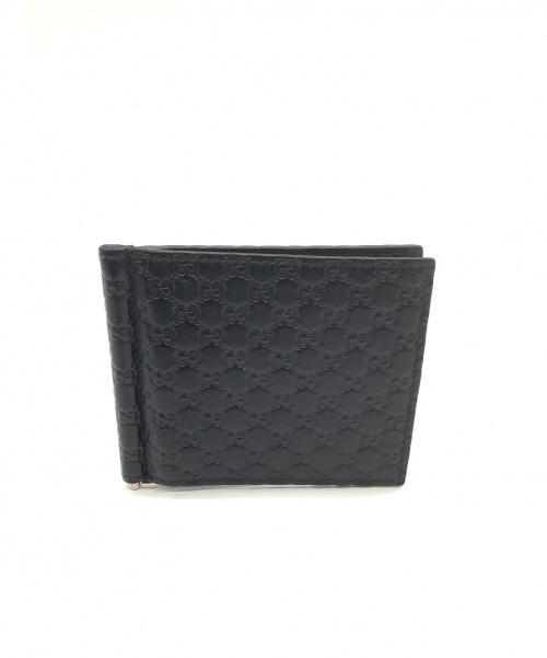 GUCCI(グッチ)GUCCI (グッチ) 2つ折り財布 ブラック マイクログッチシマ 493075 544478の古着・服飾アイテム