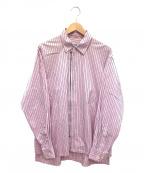 KIIT(キート)の古着「ハイカウントジップシャツ」|ピンク