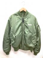 ALPHA×X-LARGE(アルファ×エクストララージ)の古着「リバーシブルMA-1ジャケット」|オリーブ