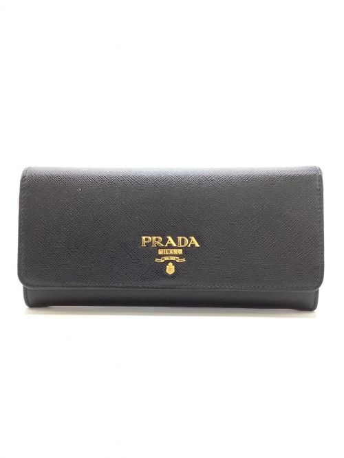PRADA(プラダ)PRADA (プラダ) 長財布 ブラックの古着・服飾アイテム