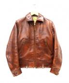 THE FEW(フュー)の古着「レザーフライトジャケット」|ブラウン