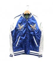 ALPHA(アルファ)の古着「リバーシブルスーベニアジャケット」|オリーブ×ブルー