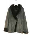 FRAMeWORK(フレームワークス)の古着「ムートンショールカラーコート」|ブラック