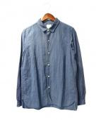 VISVIM(ビズビム)の古着「ロングライダーシャツ」 ブルー