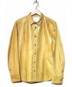 BACK LASH (ISAMU KATAYAMA)(バックラッシュ(イサムカタヤマ))の古着「ディアスキンレザーシャツ」|ブラウン