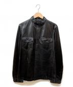 NEIL BARRETT(ニールバレット)の古着「レザーシャツジャケット」 ブラック