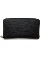 LOUIS VUITTON(ルイヴィトン)の古着「ラウンドファスナー財布」 ブラック