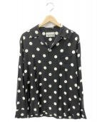 WACKO MARIA(ワコマリア)の古着「ドットハワイアンシャツ」 ブラック