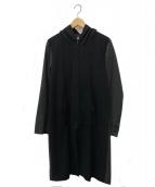 ETHOSENS(エトセンス)の古着「ジップコート」|ブラック