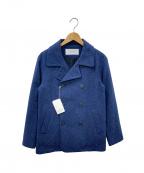 JULIEN DAVID(ジュリアンデイヴィット)の古着「Pコート」 ブルー