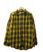 ()の古着「ペインターシャツ」|イエロー×ブラック