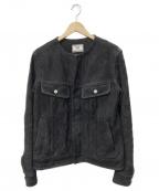 Rags McGREGOR(ラグス マクレガー)の古着「ノーカラーレザージャケット」|ブラック