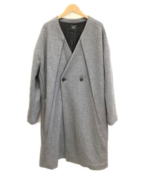 glamb(グラム)glamb (グラム) Alma no collar coat グレー サイズ:2 冬物の古着・服飾アイテム