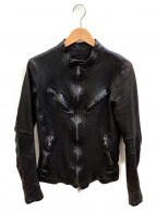 ISAMU KATAYAMA BACKLASH(イサムカタヤマ バックラッシュ)の古着「シングルライダースジャケット」|ブラック