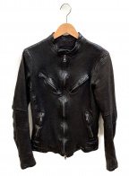 ISAMU KATAYAMA BACKLASH()の古着「シングルライダースジャケット」|ブラック
