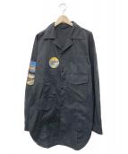 ACNE STUDIOS(アクネステュディオズ)の古着「パッチアーミーシャツジャケット」|ブラック