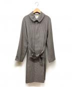 MADISON BLUE(マディソンブルー)の古着「ベルト付比翼コート」 グレー