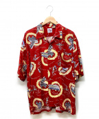 WAREHOUSE(ウェアハウス)の古着「アロハシャツ」|レッド