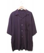 URU(ウル)の古着「オープンカラーシャツ」|パープル