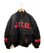 ()の古着「MA-1ジャケット」|ブラック×レッド