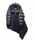 UNRAVEL PROJECT(アンレーベル プロジェクト)の古着「ドッキングデザインアシンメトリーダウンコート」 ブラック
