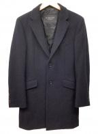 BURBERRY BLACK LABEL(バーバリーブラックレーベル)の古着「チェスターコート」 ネイビー