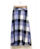 ()の古着「エアリーツイルマキシスカート」|ブルー