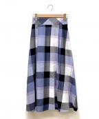 BLUE LABEL CRESTBRIDGE(ブルーレーベルクレストブリッジ)の古着「エアリーツイルマキシスカート」|ブルー
