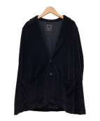 ()の古着「2Bベロアジャケット」 ブラック