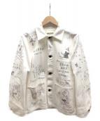 WEIRDO(ウィアード)の古着「ペイントカバーオール」 ホワイト