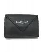 BALENCIAGA(バレンシアガ)の古着「ペーパーミニウォレット」|グレー