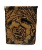 KATHARINE HAMNETT(キャサリンハムネット)の古着「2つ折り財布&小銭入れセット」|ブラウン
