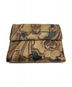 KATHARINE HAMNETT(キャサリンハムネット)の古着「2つ折り財布」|ブラウン
