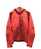 ()の古着「レプタイルジャケット」 オレンジ