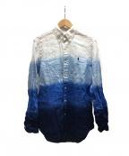 RALPH LAUREN()の古着「グラデーションシャツ」 ブルー×ホワイト