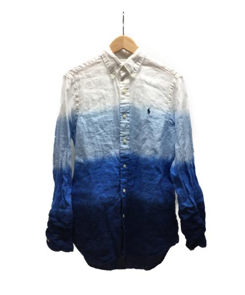 RALPH LAUREN(ラルフローレン)RALPH LAUREN (ラルフローレン) グラデーションシャツ ブルー×ホワイト サイズ:Sの古着・服飾アイテム