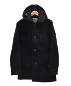PHERROWS(フェローズ)の古着「フード付きウールコート」|ブラック
