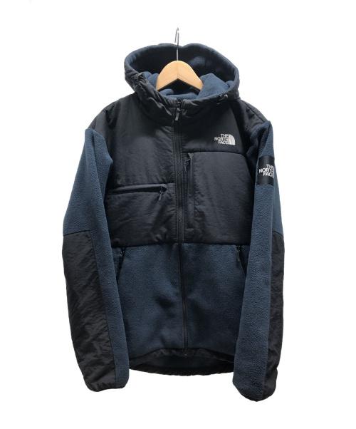 THE NORTH FACE(ザノースフェイス)THE NORTH FACE (ザノースフェイス) DENALI HOODIE ネイビー×ブラック サイズ:XLの古着・服飾アイテム