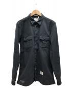 BEDWIN &THE HEARTBREAKERS(ベドウィンドアンドザ ハートブレイカーズ)の古着「ワークシャツ」|ブラック