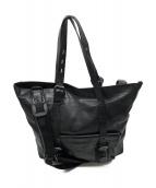 HUGO BOSS(ヒューゴボス)の古着「レザートートバッグ」|ブラック