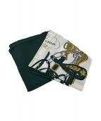 HERMES(エルメス)の古着「スカーフ」|グリーン×ホワイト