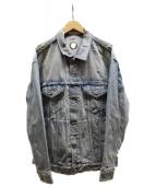 MR.GENTLEMAN(ミスタージェントルマン)の古着「ダメージ加工デニムジャケット」 インディゴ
