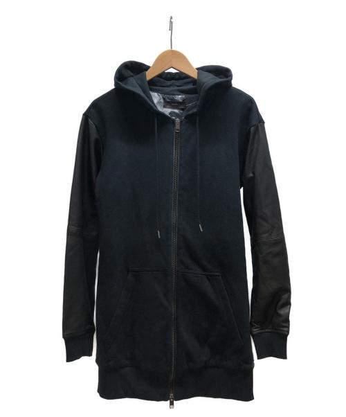 DIESEL(ディーゼル)DIESEL (ディーゼル) ラムレザースリーブジップパーカー ブラック サイズ:不明の古着・服飾アイテム